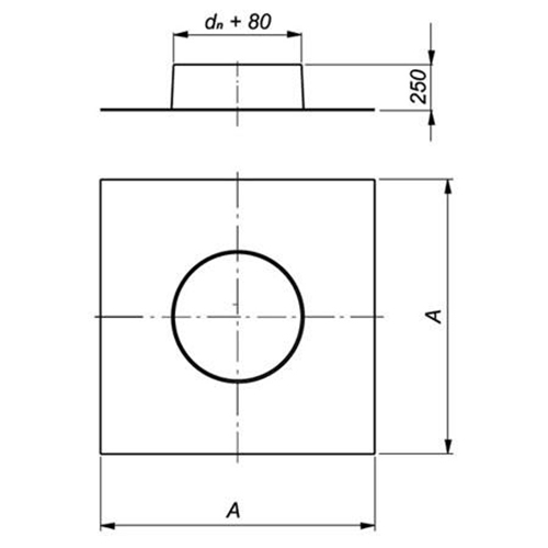 Zylinderrosette  Rosette Edelstahl für Kaba Rundzylinder Tiefe 13 mm