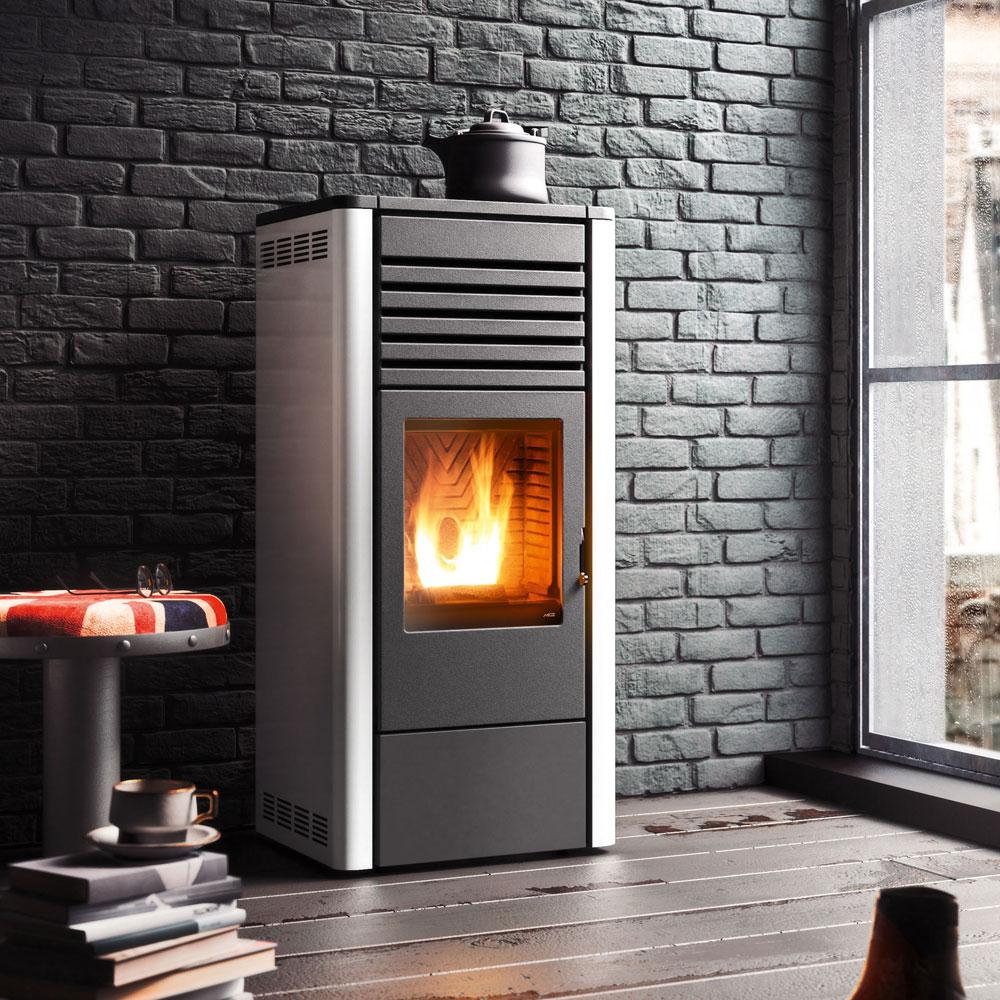 pelletofen mcz maggie comfort air 10 kw ebay. Black Bedroom Furniture Sets. Home Design Ideas