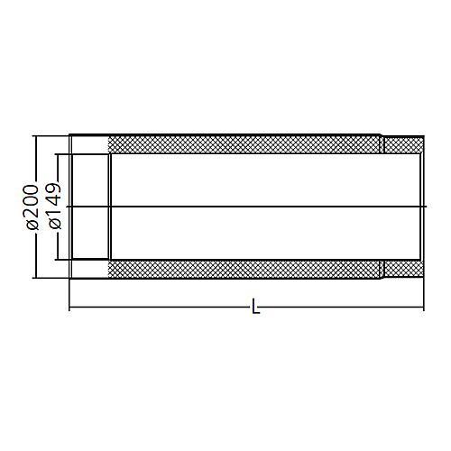 ofenrohr doppelwandig ged mmt system primus 150 1000 mm ebay. Black Bedroom Furniture Sets. Home Design Ideas