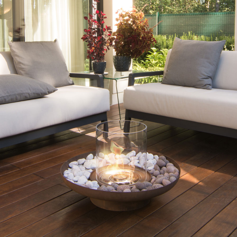 Details about Planika Bioethanol-Outdoor-Glasfeuer Tondo Commerce