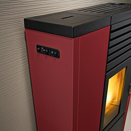 pelletofen red edera multiair 8 kw ebay. Black Bedroom Furniture Sets. Home Design Ideas