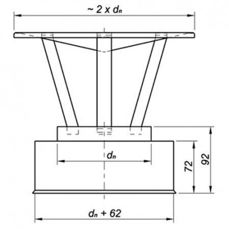 schornstein regenhut auf rohr montiert edelstahl 120 mm 180 mm ebay. Black Bedroom Furniture Sets. Home Design Ideas